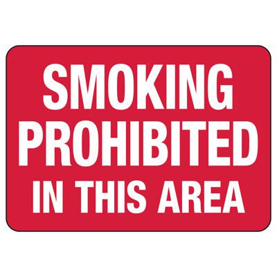 No Smoking Signs - Smoking Prohibited