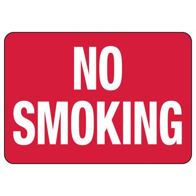 No Smoking Signs - Aluminum, Plastic or Vinyl