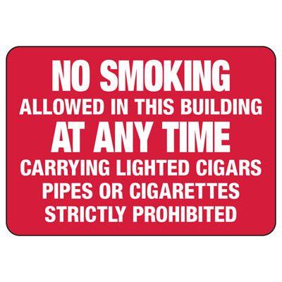 No Smoking Signs - No Smoking Allowed