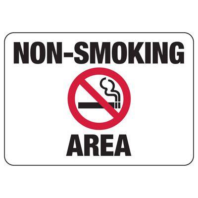 Non-Smoking Area - Industrial Smoking Signs