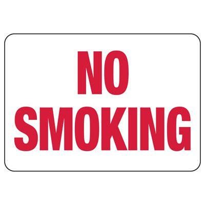 No Smoking - Industrial Smoking Signs