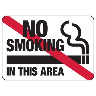 No Smoking In This Area (Graphic) - Industrial Smoking Signs