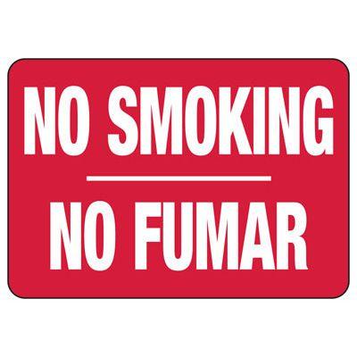 Bilingual No Smoking Sign - No Smoking Sign