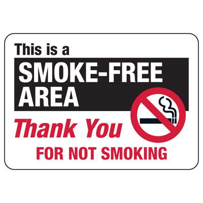 Smoke-Free Area - Industrial Smoking Signs