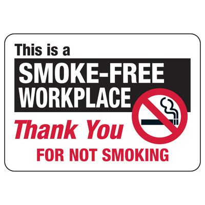 Smoke-Free Workplace - Industrial Smoking Signs