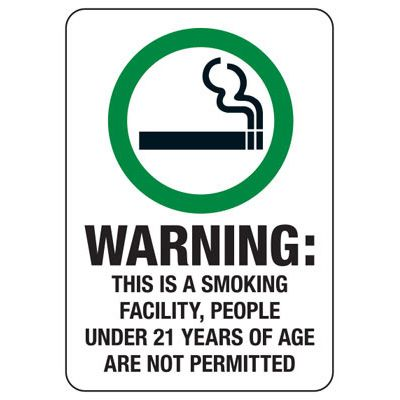 State Smoke-Free Law Signs - ID Warning Smoking Facility
