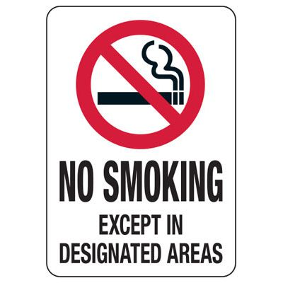 State Smoke-Free Law Signs - UT No Smoking Designated Areas