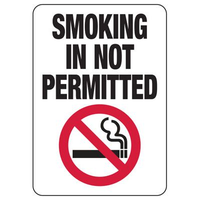 Florida Smoking Is Not Permitted Sign
