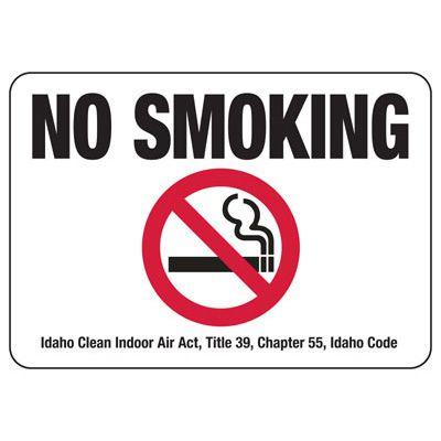 Idaho No Smoking Sign