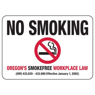 Oregon No Smoking Sign