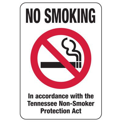 Tennessee Smoke-Free Signs- No Smoking