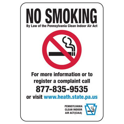 Pennsylvania No Smoking Sign