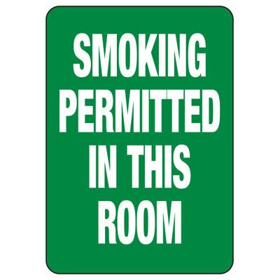 Smoking Permitted In This Room - No Smoking Sign