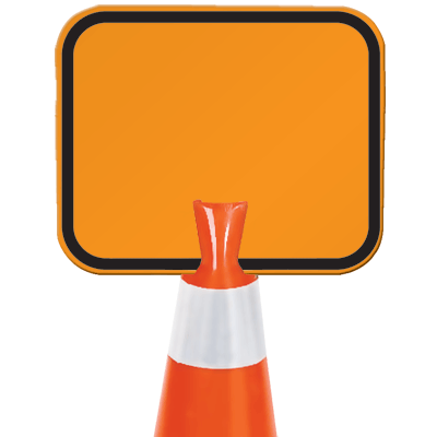 Arrow Sign Snap-On Cone Sign - Blank B202