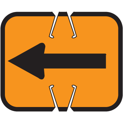 Arrow Sign Snap-On Cone Sign - Arrow A100
