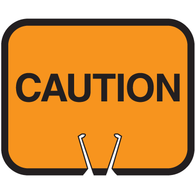 Arrow Sign Snap-On Cone Sign - Caution CAUT