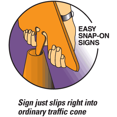 Arrow Sign Snap-On Cone Sign - Keep Right KEPR