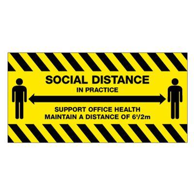 TexWalk® Social Distance in Practice Sign