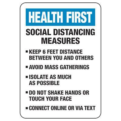 Social Distancing Measures Signs