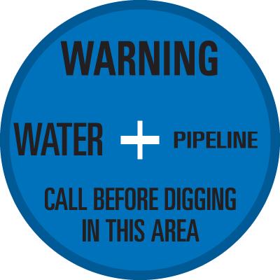 SoilMarker™ Surface Markers - Warning Water Pipeline