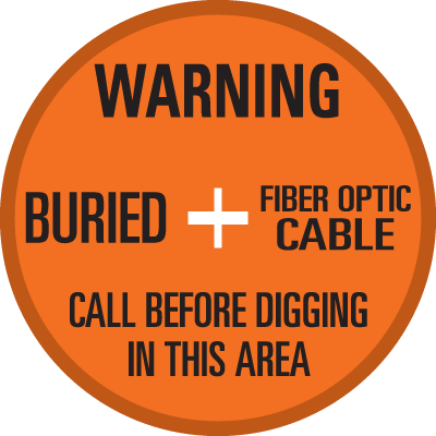 SoilMarker™ Surface Markers - Warning Buried Fiber Optic Cable