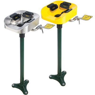 Speakman® Optimus® Pedestal-Mounted Eye and Face Wash Systems