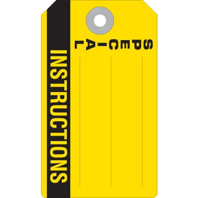 Special Instructions - Accident Prevention Ultra Tag