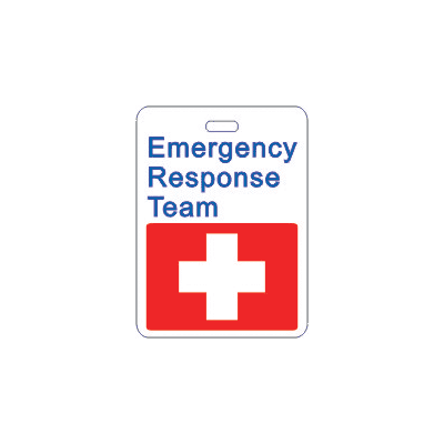 Specialty ID Badges - Emergency Response Team