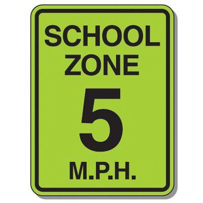 Speed Limit Signs - School Zone 5 Mph