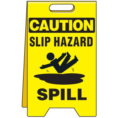 Spill Floor Stand - Caution Slip Hazard Spill