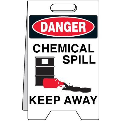 Spill Floor Stand - Danger Chemical Spill Keep Away