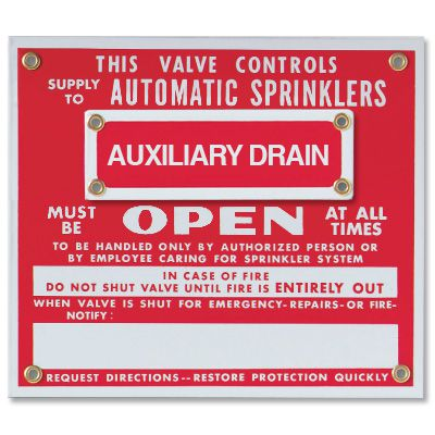 Sprinkler Sign Attachments