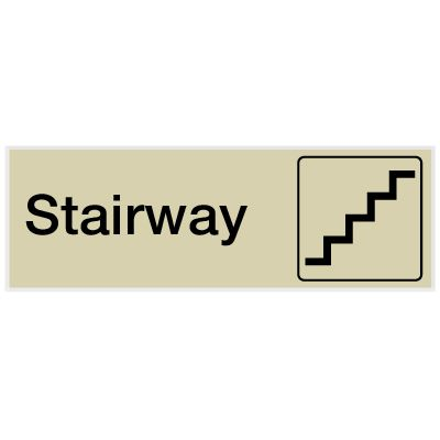 Stairway - Engraved Graphic Room Signs