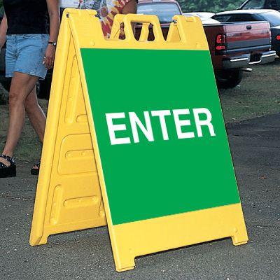 Standard A-Frame Enter Signs