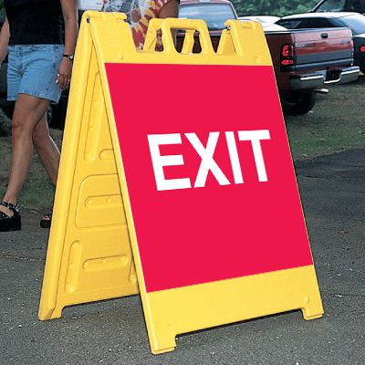 Standard A-Frame Exit Signs