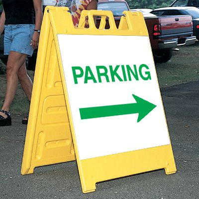 Standard A-Frame Parking Signs - Right Arrow