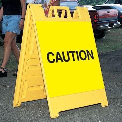 Standard A-Frame Caution Signs