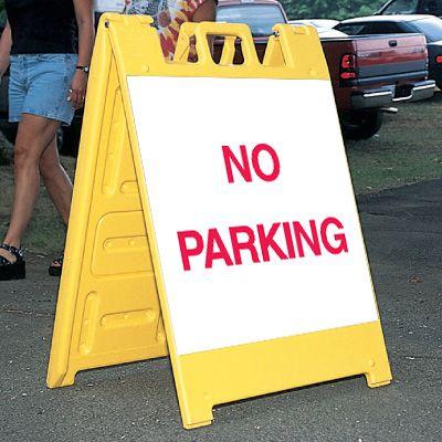 Standard A-Frame No Parking Signs