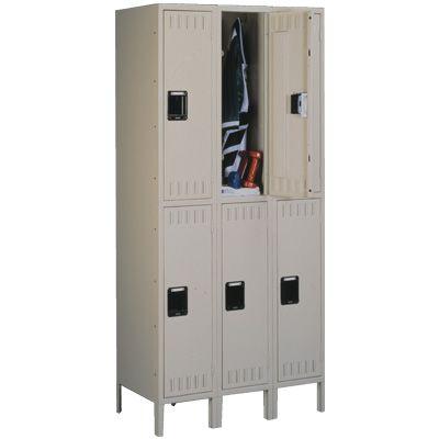 Double Tier 3 Wide Lockers