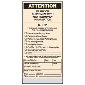 Standard Parking Violation Tickets - Attention