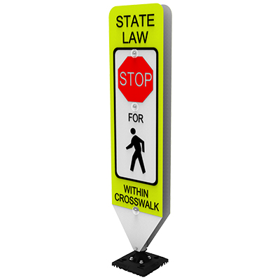 State Law In-Street Pedestrian (Symbol) Crosswalk Signs