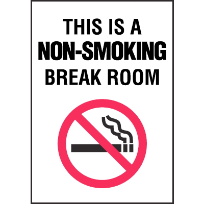 Connecticut Smoke-Free Signs - Non-Smoking Break Room