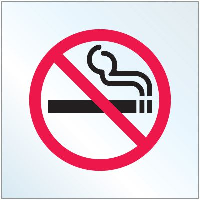 Static Cling No Smoking Decals
