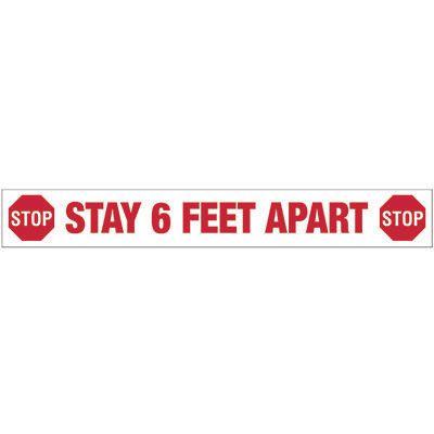 Stay 6 Feet Apart - Floor Marking Strips