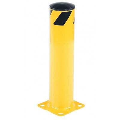 Steel Pipe Safety Bollard 8 Base x 5.5 Dia