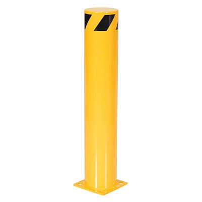 Steel Pipe Safety Bollard 8 Base x 6.5 Dia