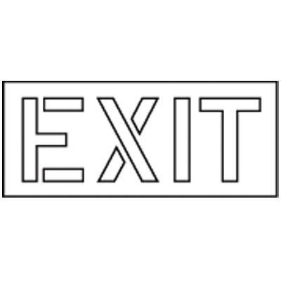 Pavement Tool Exit Stencil S-7120 D