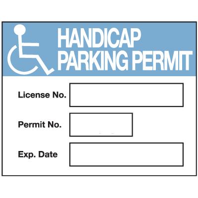 Handicap License No. Permit No. Exp Date. Parking Permits