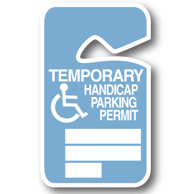 Temporary Handicap Stock Parking Permit