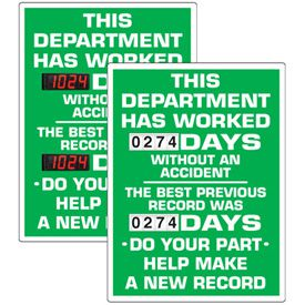 Stock Scoreboards - Department Without An Accident